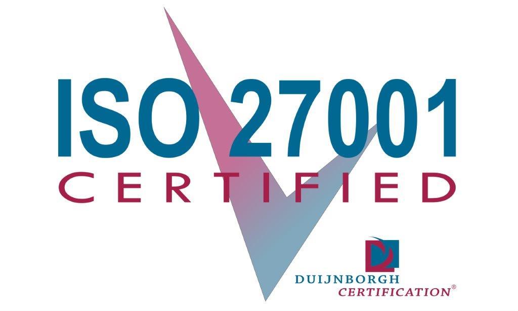 Certificaat van Duijborgh Certifications. De auditor voor ISO27001